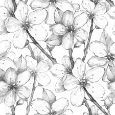 japanese pattern black and white japanese garden watercolor seamless floral pattern black and