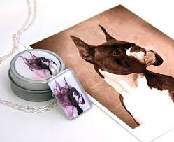 Custom Charm Necklaces Hand Crafted Custom Pet Portrait Pendant Charm Necklace By Barking