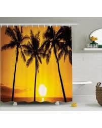 Shower Curtains Sets For Bathrooms by Here U0027s A Great Deal On Tropical Decor Shower Curtain Set Golden