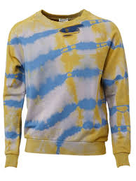 saint laurent destroyed tie dye sweatshirt for men lyst