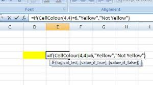 excel formula based on cell background colour