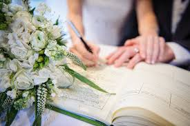 wedding signing bluebell centre and joshua bradley wedding