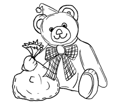 teddy bear merry christmas coloring pages christmas coloring