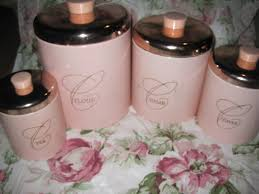 Kitchen Canister Sets Vintage Shabby Pink World Vintage Pink Canister Set