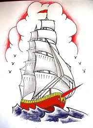 sailor jerry ship colored tattoo design photos pictures and