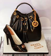 michael cake toppers the perfectionist confectionist michael korrs handbag and shoe
