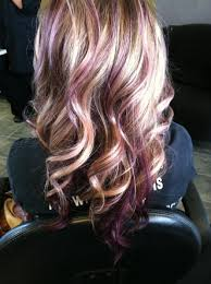 short hairstyles with peekaboo purple layer blonde hair with violet highlights google search hair
