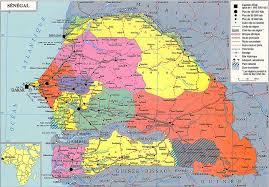 africa map senegal maps of senegal