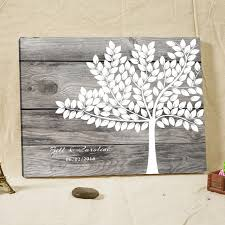 guest books for wedding personalized wedding guest book frame canvas rustic fingerprint