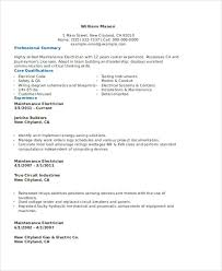Building Maintenance Resume Sample by Electrician Resume Template Electrician Resume Sample