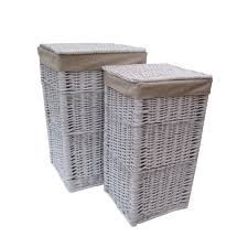 white laundry hampers white wicker laundry basket