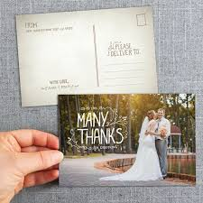 wedding postcards wedding thank you postcard mes specialist