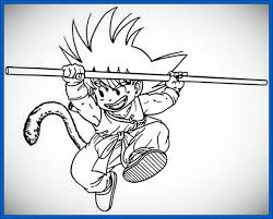 imagenes de goku para dibujar faciles con color dibujos de goku para pintar con colores archivos dibujos de dragon