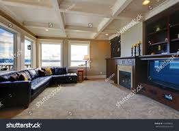 Room With Tv Large Luxury Living Room Tv Water Stock Photo 110334632 Shutterstock