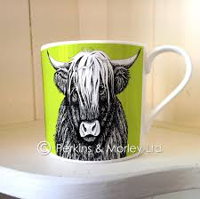 highland cow mug perkins and morley ltd