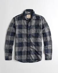 Flannel Shirts Guys Stretch Plaid Flannel Shirt Guys Sale Hollisterco
