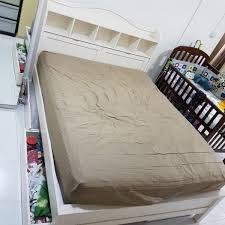 Vono Bed Frame Size Wooden Bed Frame With Storage Headboard 11 Vono