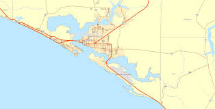 Port Canaveral Florida Map by Borders
