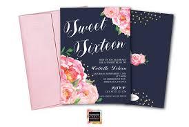 Sweet 16 Invitation Cards Sweet Sixteen Invitation Birthday Invitation Sweet 16