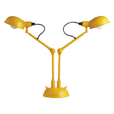 tommy yellow metal twin head desk lamp buy now at habitat uk