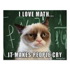Original Grumpy Cat Meme - grumpy cat poster i love math it makes people cry poster people