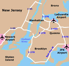 map of nyc nyc airport map walks of new york