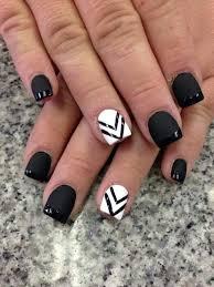Black Manicure Designs 80 Black And White Nail Designs Matte Black Nail Matte