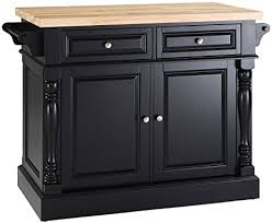 butcher block top kitchen island amazon com crosley furniture kitchen island with butcher block