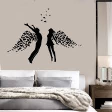 vinyl wall decal love couple romance wings bedroom stickers vinyl wall decal love couple romance wings bedroom stickers ig3793