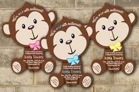 30 jungle monkey safari baby shower invitations boy