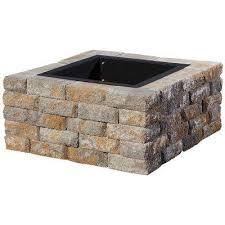 Fire Pit Kit Stone by Stone Fire Pit Kits Hardscapes The Home Depot