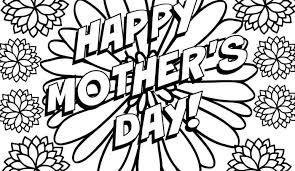 coloring pages mothers day flowers happy mother s day flowers coloring page free printable no you