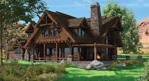 chalet cabin plans chalet style log home and timber home plans the flat iron chalet is