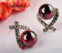 garnet earrings kjjeaxcmy 925 sterling silver jewelry inlaid garnet earrings