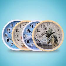 gadgets de bureau 12 pouce muet horloge murale ronde modèle européen horloge cuisine