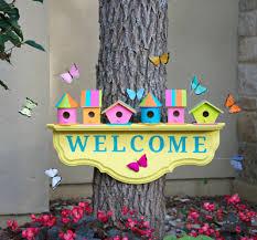 birdhouse home decor birdhouse welcome sign home decor diy morena u0027s corner