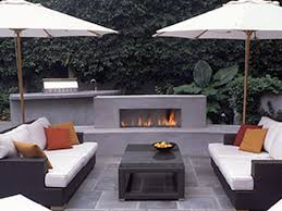 modern outdoor gas fireplace furniture accessories designs with