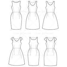 women u0027s empire waist dress fashion flat template fashion