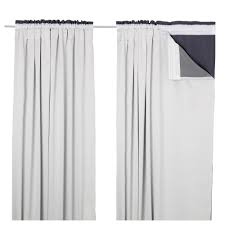 Ritva Curtain Review Glansnäva Curtain Liners 1 Pair 143x240 Cm Ikea