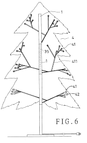 patent us7132139 structure of an assembled type christmas tree
