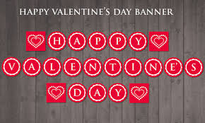 happy valentines day banner printable happy s day banner diy