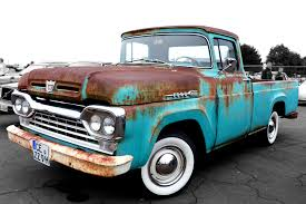 Ford Old Pickup Truck - free images vintage retro old green america auto blue