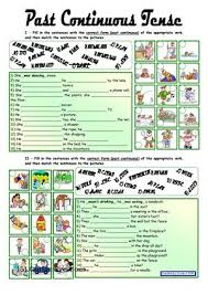 printable worksheets english tenses past continuous tense with key fully editable worksheet