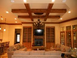 interior stunning coffered ceiling design idea with rustic black