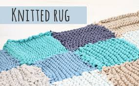 knitted rug tutorial make your own rug