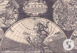 map world ro wall mural poster vintage antique 1702 world maps