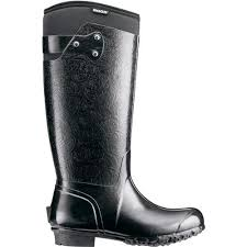 womens gumboots australia bogs rider embossed womens insulated wellingtons gumboots in black