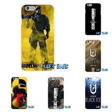 siege mini rainbow six siege logo silicone tpu transparent cover for
