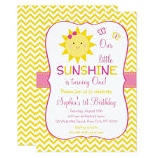 sunshine 1st birthday card zazzle com