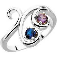 sterling silver mothers rings mothers ring scroll design 1 4 stones in sterling silver genuine